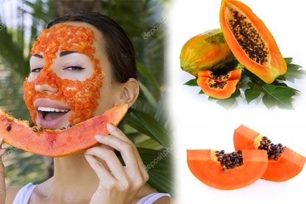 Mascarillas de papaya