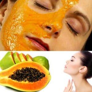 Mascarillas de papaya