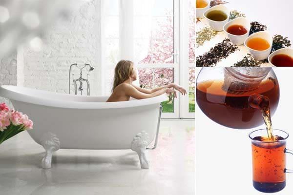 Baño con té
