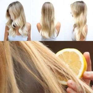Aclaración del cabello con limón