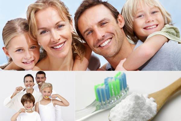 Blanqueamiento de dientes con bicarbonato de sodio