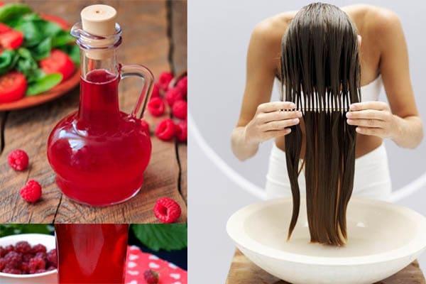 Mascarillas de vinagre de frambuesa para el cabello