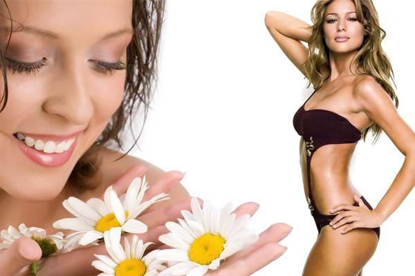 la belleza y la salud de una mujer