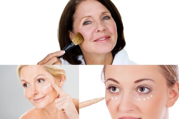 ?Como ocultar las arrugas con maquillaje?