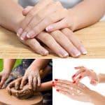 Cuidado de la piel de las manos.