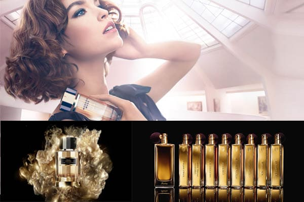 perfume sobre una mujer